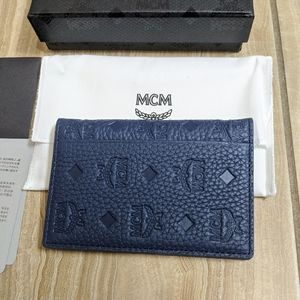 MCM Blue Wallet Patterned Cardholder